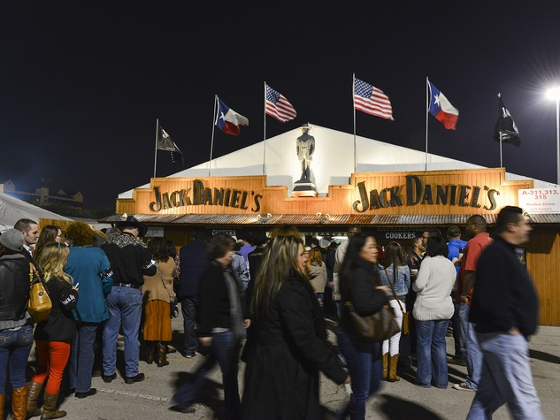 12 The Jack Daniels tent at the Houston Rodeo barbecue cook-off February 2014