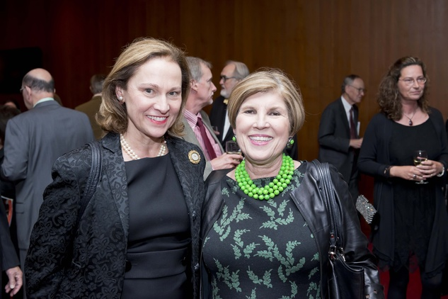 158 Minnette Boesel, left, and Robin Angly at the Leipzig Gewandhaus concert and reception November 2014