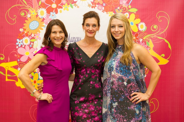 Trish Hayes, from left, Tricia Georgiou and Megan Hotze at Stiletto Strut September 2014