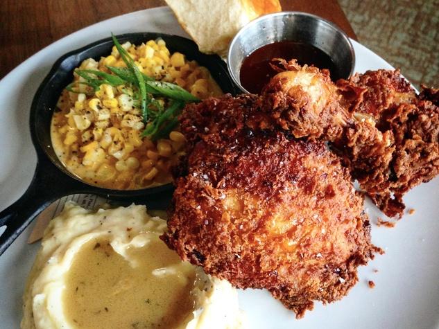 Houston, fried chicken, July 2017, Hay Merchant