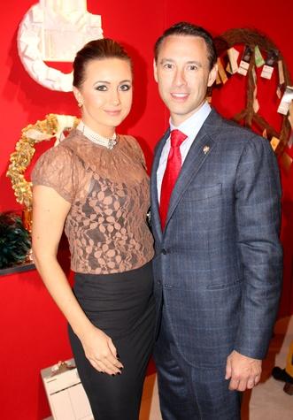 Kristen Holderbaum, Scott Diament, diffa wreath event
