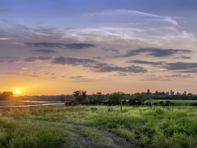 Sunset in Dallas from Great Trinity Forest