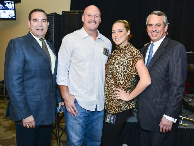 11 Luke Keller, from left, Chris and Jenny Myers and Scott McLean at Taste of the Texans November 2013