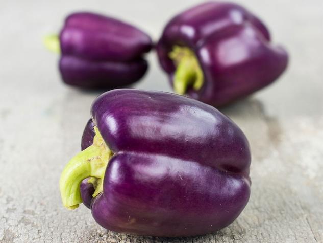 Photo of purple bell peppers
