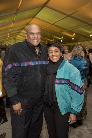 Lou Gregory and Linda Lorell at the Memorial Park Conservancy benefit February 2015