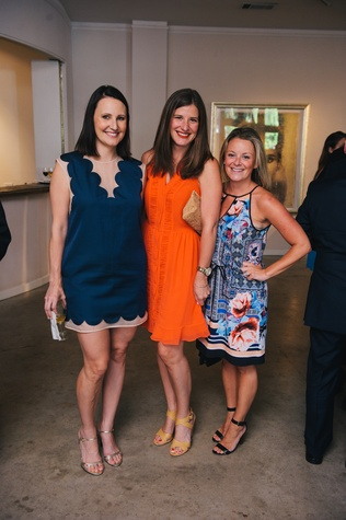0040 9 Kate Stukenberg, from left, Lauren Streiby and Molly Scioli at the Houston Symphony's Young Associates Council season kick-off August 2014