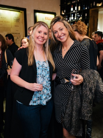 12 Julie Azud, left, and Brittany King at the Artesa wine tasting at Cru March 2014