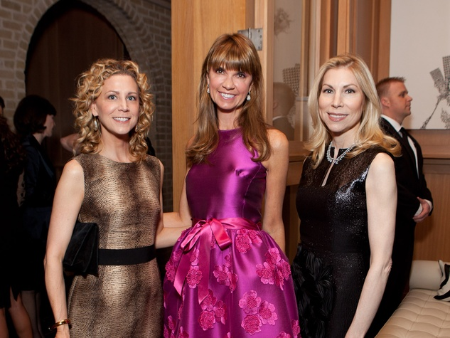 Courtney Fertitta, from left, Chessie Breen and Darcy Rigas at the Asprey dinner October 2013