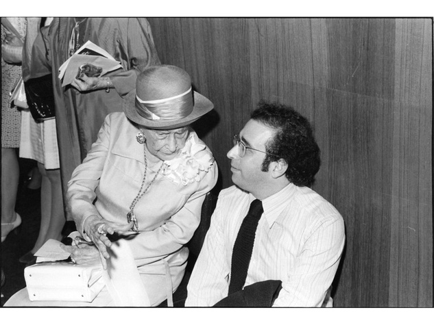 Ima Hogg & Larry Foster at a 1975 Annual Fund meeting