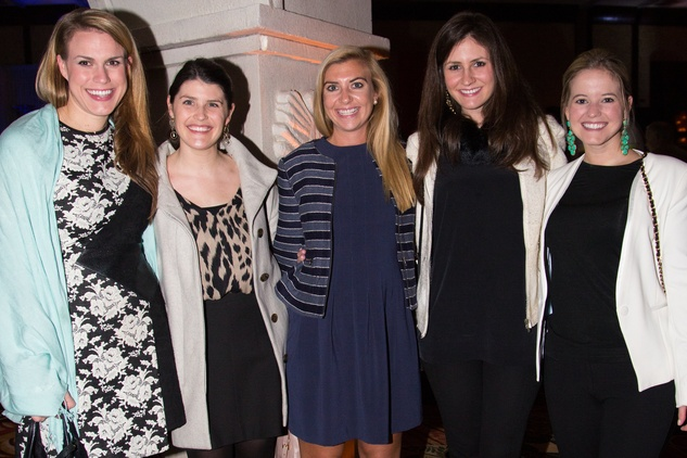 3 Elizabeth Trice, Amy Renaud, Hayley Vaughn, Hallie Bauer, Kate McCarroll at The Social Book 2015 Launch Party January 2015