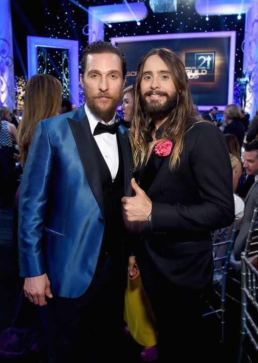 Matthew McConaughey and Jared Leto at Screen Actors Guild Awards