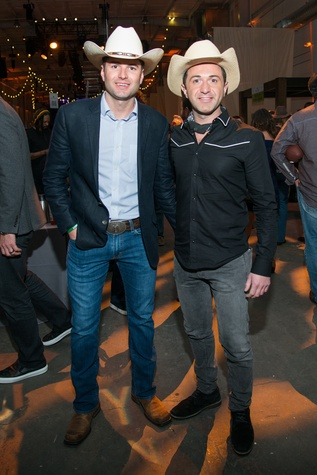 Jonathan Gillis, Drew Karedes at Big Texas Party