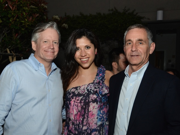 47 Chris Smith, from left, Stephanie Bardwil and Rick Castigliono at the CultureMap Social at Gremillion and Co. Fine Art March 2015