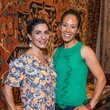 Candace Thomas, left, and Ting Bresnahan at the Abraham's Oriental Rug dinner September 2014